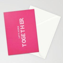 Let's kern together Stationery Cards