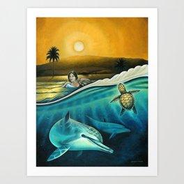 Amigos del Mar Art Print
