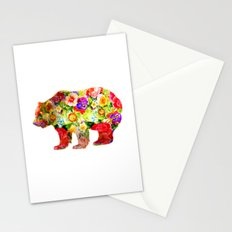 Bear on Flowers Stationery Cards