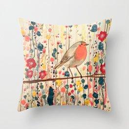 je ne suis pas qu'un oiseau Throw Pillow