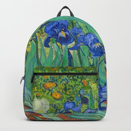Vincent Van Gogh Irises Painting Backpack