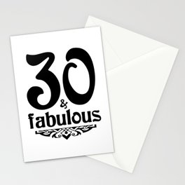 30 and fabulous Stationery Cards