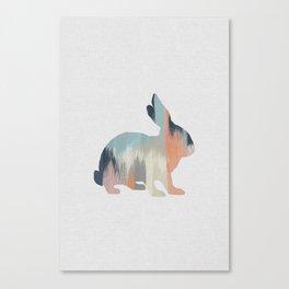 Pastel Rabbit Canvas Print