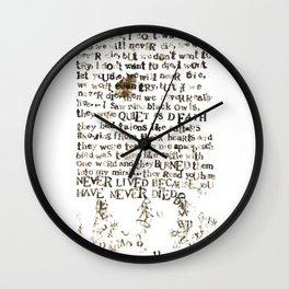 Listener Lyrics Poster Wall Clock