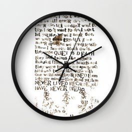 Listener Lyrics Poster Wall Clock