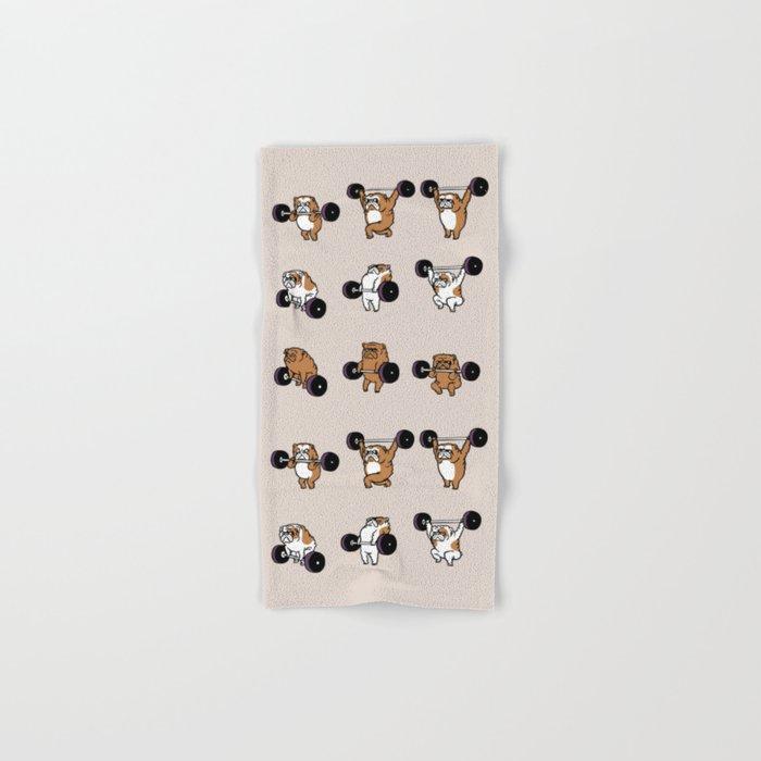 OLYMPIC LIFTING English Bulldog Hand & Bath Towel