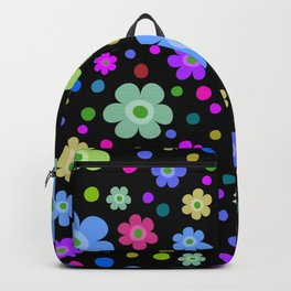 vivid floral pattern Backpack