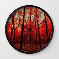true blood Wall Clocks featuring True North by bomobob