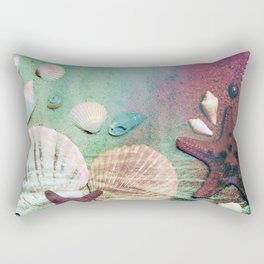 Retro Iridescent beach Rectangular Pillow