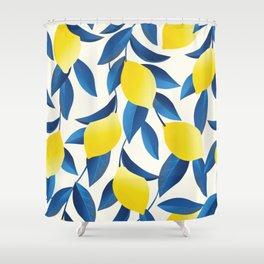 Tropical Lemon Shower Curtain