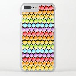 Rainbow Dotty Stripes Clear iPhone Case