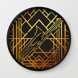 Art Deco Basun Wall Clock
