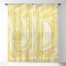 Amber Divided Sheer Curtain