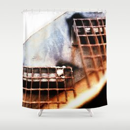 Metal Fire Escape Stairs Abstraction Shower Curtain