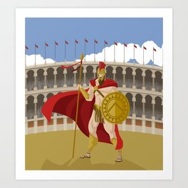 great spartan gladiator Art Print