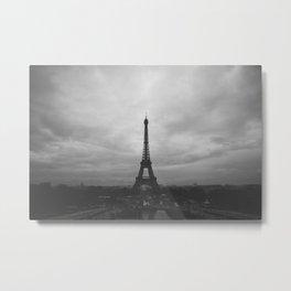 Paris Black & White Metal Print