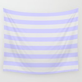 Lavender & Gray Stripes Wall Tapestry