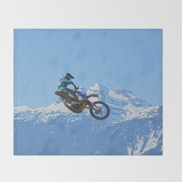 Revelstoke Ride - MotoX Racing in British Columbia Throw Blanket