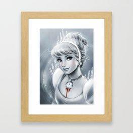 Clock Girl Framed Art Print