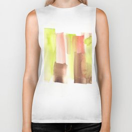 [161228] 23. Abstract Watercolour Color Study|Watercolor Brush Stroke Biker Tank