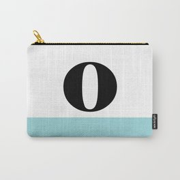 Monogram Letter O-Pantone-Limpet Shell Carry-All Pouch