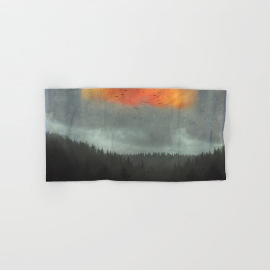 Spaces XVI - Fireball Hand & Bath Towel