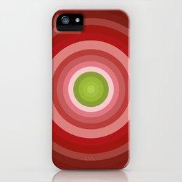 Beetroot Pink Circles iPhone Case