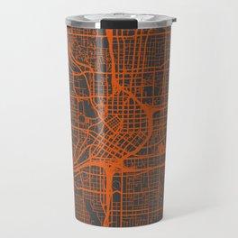 Atlanta map orange Travel Mug