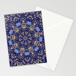 Nine sided ornament in blue with swirly things and such Stationery Cards