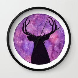 Mr. Deer and the Universe Wall Clock