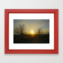 River Framed Art Print