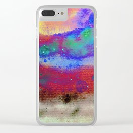 Kraft Paper Colorful Abstract Clear iPhone Case