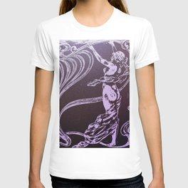 Art nouveau, purple,lavender,naked lady T-shirt
