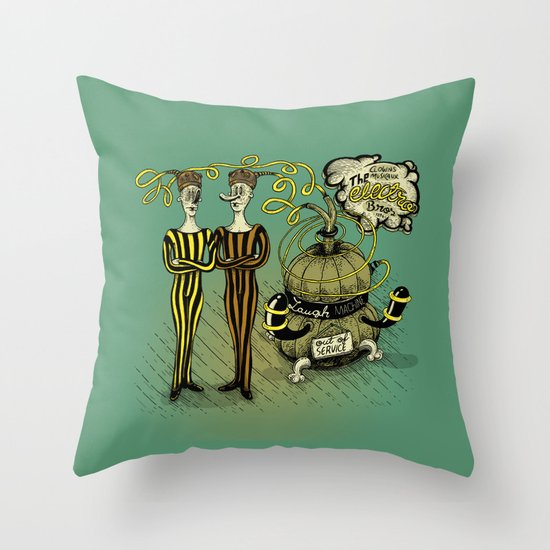 The Electro Bros and The Laugh Machine Throw Pillow