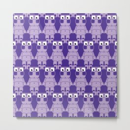 Super cute cartoon purple pig - bring home the bacon with everything for the pig enthusiasts! Metal Print