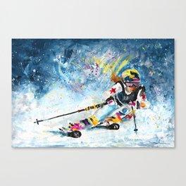 Skiing 03 Canvas Print