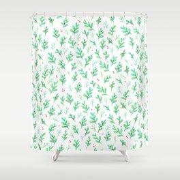 Under the Mistletoe Shower Curtain