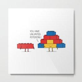 positive blocks... Metal Print