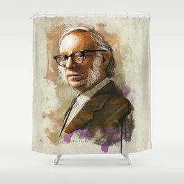 Isaac Asimov Portrait Shower Curtain