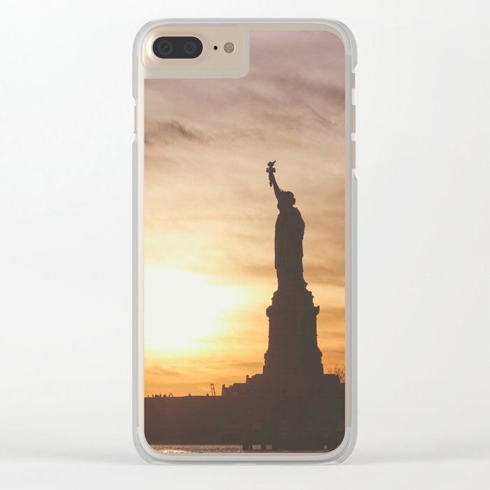 Lady at Sunset Clear iPhone Case