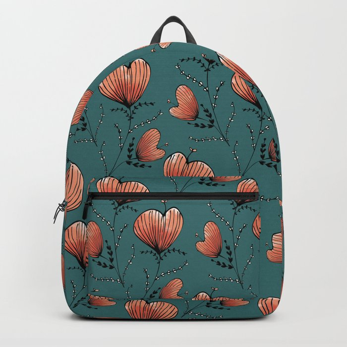 Coral flowers Backpack