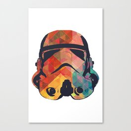 Stormtrooper Hipster Fashion Collection - Bright Triangles Canvas Print