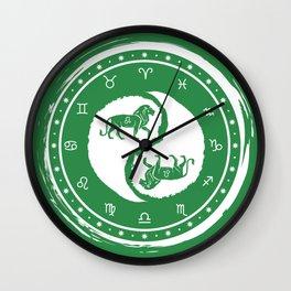 Leo Yin Yang Fifth Zodiac Sign Wall Clock