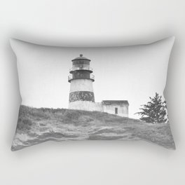 Cape Disappointment Pacific Ocean Washington Northwest Lighthouse Coast Guard Boats Gothic Architect Rectangular Pillow