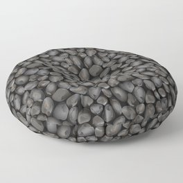 Dark glossy pebbles Floor Pillow