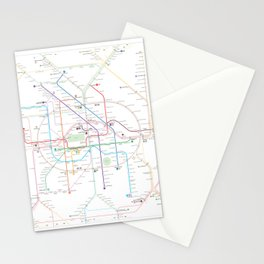 Germany Berlin Metro Bus U-bahn S-bahn map Stationery Cards