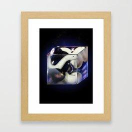 Snake Cube Framed Art Print