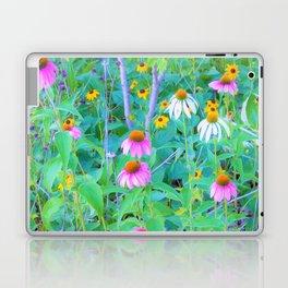 White and Purple Coneflowers and Yellow Rudbeckia Garden Laptop & iPad Skin