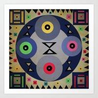 ferris wheel Art Prints featuring Ferris wheel by simay