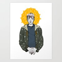 kieren walker Art Prints featuring Kieren Walker by timeflashh